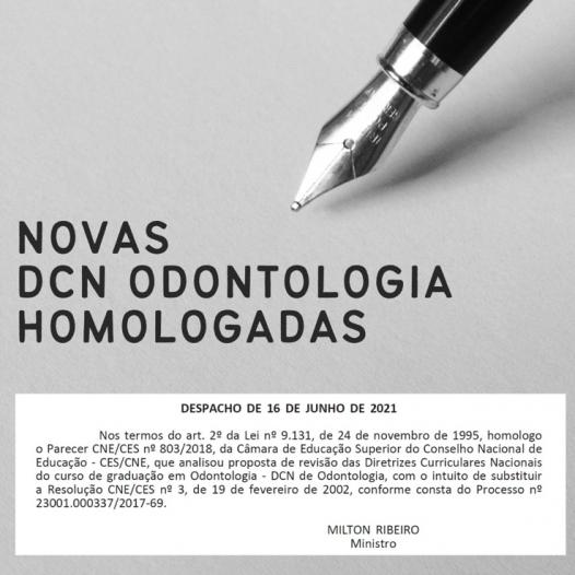 Novas DCN Odontologia Homologadas