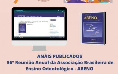 ANAIS 56ª Reunião Anual da Associação Brasileira de Ensino Odontológico